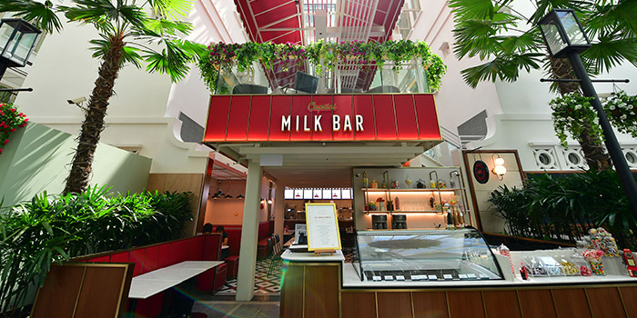 Facade from Capitol Milk Bar at Arcade @ The Capitol Kempinski in City Hall, Singapore