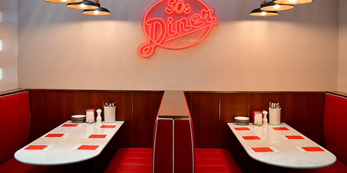 Interior of Broadway American Diner at Arcade @ The Capitol Kempinski in City Hall, Singapore