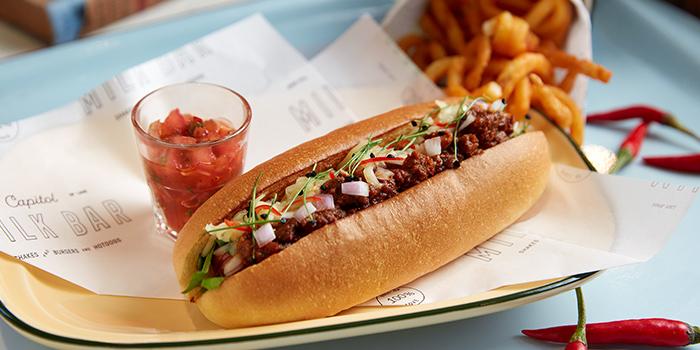 Rio Rita Hotdog & Curly Fries from Capitol Milk Bar at Arcade @ The Capitol Kempinski in City Hall, Singapore