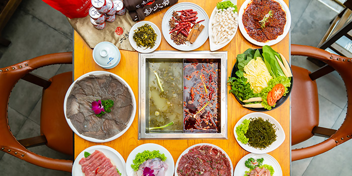 Overview from Da Miao Hotpot at The Cannery in River Valley, Singapore