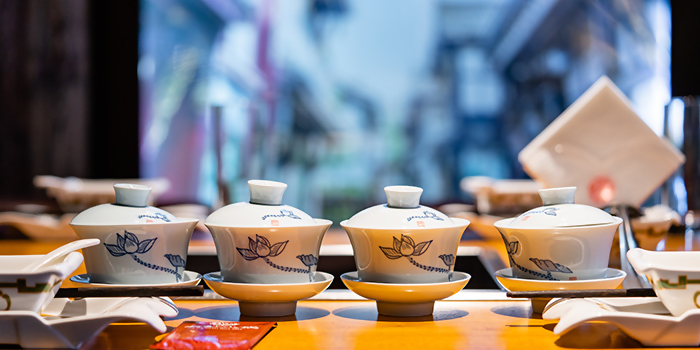 Tea from Da Miao Hotpot at The Cannery in River Valley, Singapore