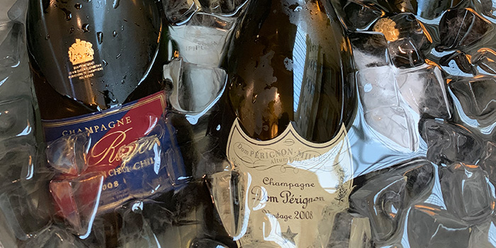 Champagnes from Grand Cru at South Courtyard at The Fullerton Hotel Singapore in Raffles Place, Singapore
