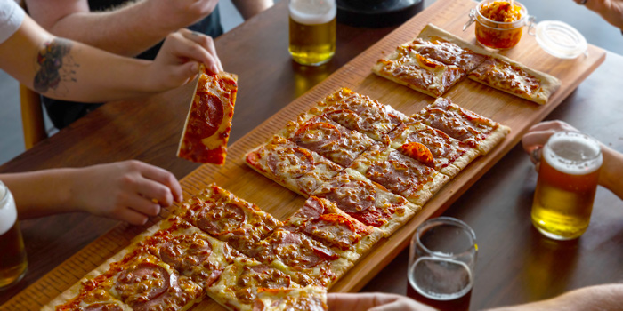 1M Mega Pizza from Holey Moley Golf Club (Dining) in Clarke Quay, Singapore