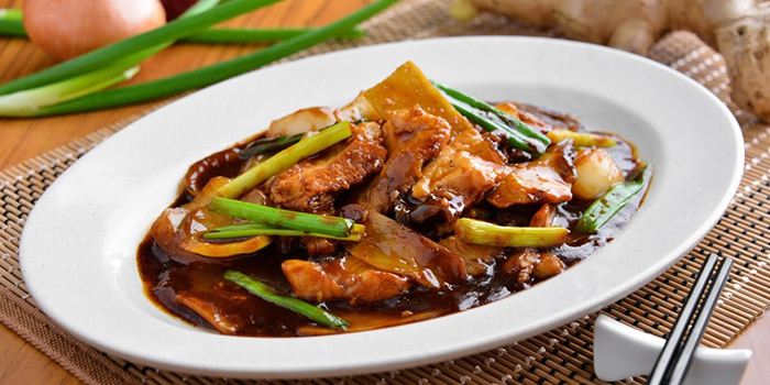 Beef Slices with Ginger and Spring Onion from Kampong Cafe at Sports Lifestyle Centre in Bukit Merah, Singapore