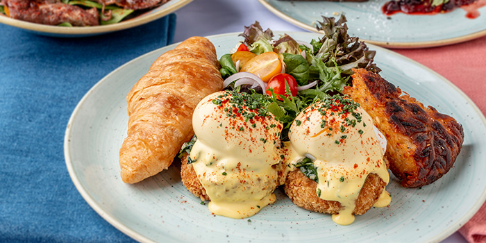 Crab Cake Benedict from Mon Bijou at Claymore Connect in Orchard, Singapore