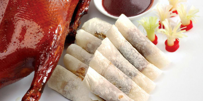 Peking Duck with Flour Skin from Mouth Restaurant at Air View Building in Tanjong Pagar, Singapore