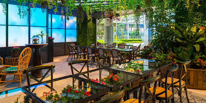 Interior of Picnic Food Park at Wisma Atria in Orchard Road, Singapore