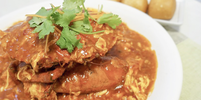 Signature Chilli Crab from Ponggol Seafood at The Punggol Settlement in Punggol, Singapore