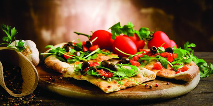 Pizza from Roots Mediterranean in Bukit Timah, Singapore