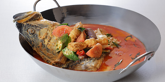 Curry Australian Barramundi Fish Head from TASTE by TungLok at Park Regis Singapore in Clarke Quay, Singapore
