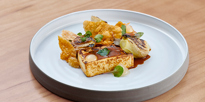 Smoked Tofu from The Garden Club at OUE Downtown Gallery in Tanjong Pagar, Singapore