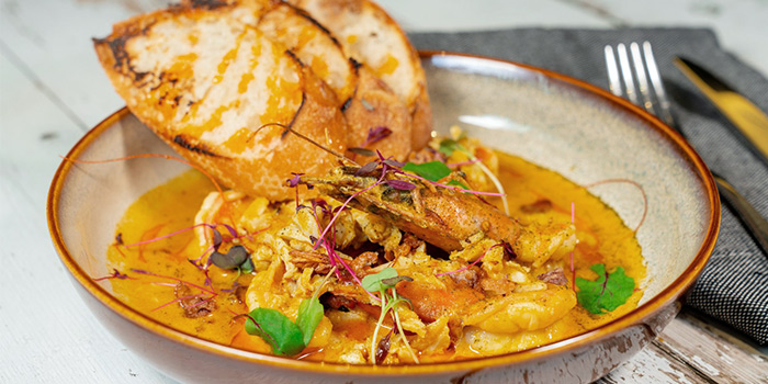 Curry Tiger Prawns from The Wine & Gourmet Friends in Chinatown, Singapore