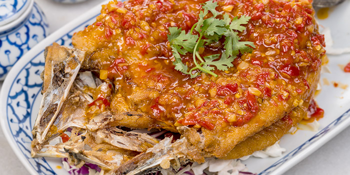 Deep Fried Seabass with Special Chili Sauce of Thonglor Thai Cuisine & Seafood (West Coast) at West Coast Plaza in West Coast, Singapore