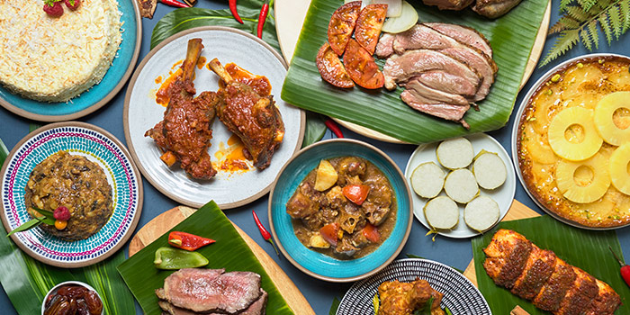 Local Food Spread from Tiffany Cafe & Restaurant in Chinatown, Singapore