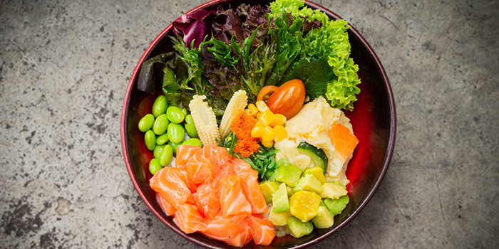 Salmon Poke Rice Bowl from Una Una at Bugis+ in Bugis, Singapore