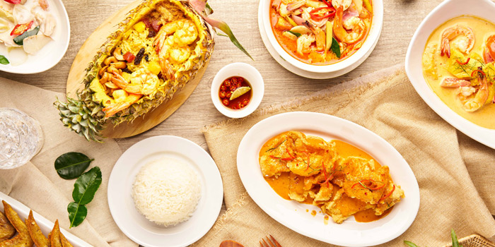 Selection of Food from Feung Nakorn Kitchen at 29 Soi Fuangthong Wat Rajaborphit, Khet Phra Nakhon Bangkok