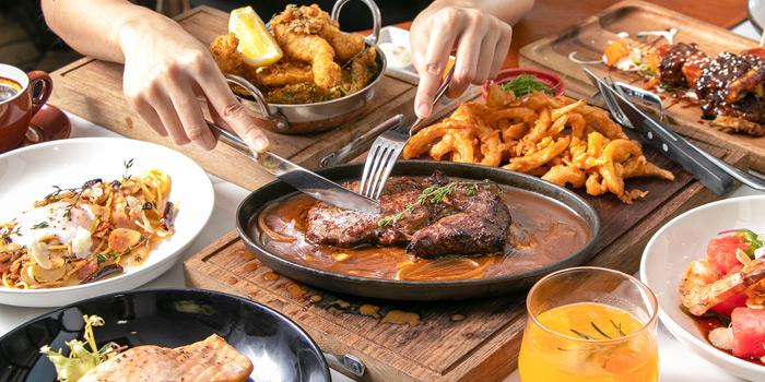Selection of Food from Topknot Rooftop Bar & Restaurant at Hotel Once Bangkok 2074/99 Charoenkrung 72/2 ,Bangkorlaem Bangkok