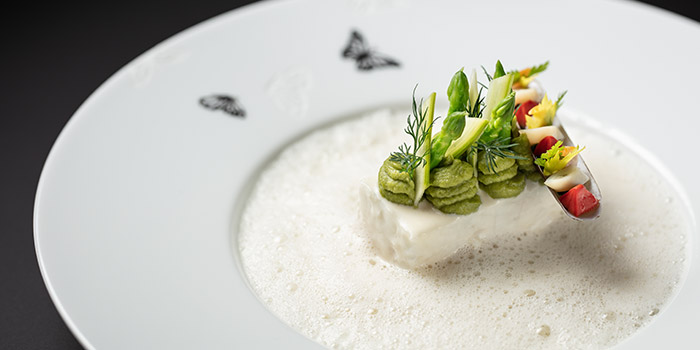 Slow cooked Opal Coast turbot, The Tasting Room, Coloane-Taipa, Macau