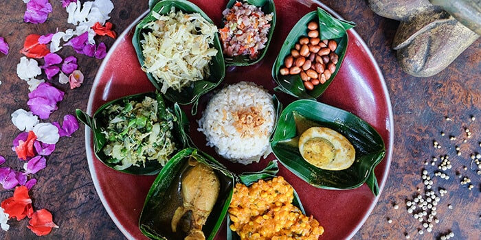 Food from Bambu Indah Kitchen, Ubud, Bali