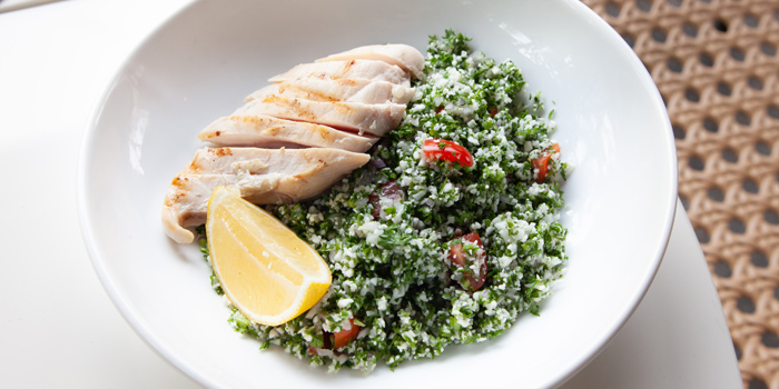 Cauliflower Tabbouleh with Grilled Chicken from Herringbone at 26/1 Sukhumvit 53 Alley Khlong Tan Nuea, Wattana Bangkok