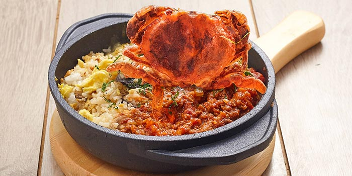 Chilli Crab Rice Casserole