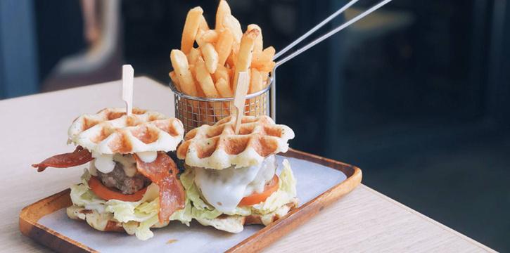 Wafflers Double Burger, Waffling Beans, Kennedy Town, Hong Kong
