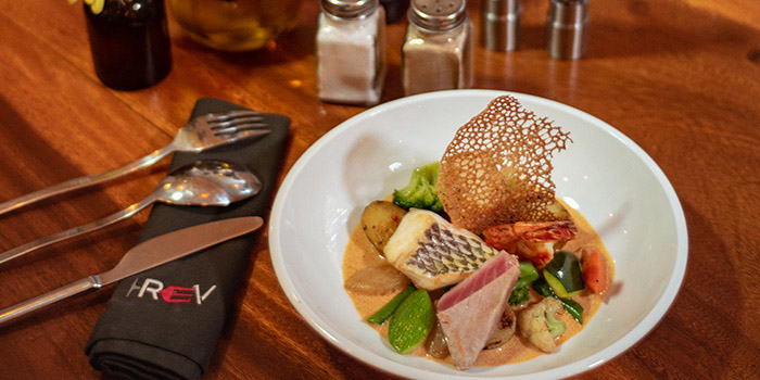 Food from REV Bistro, Seminyak, Bali