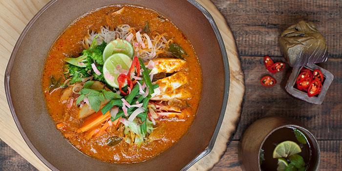 Food from Moksa Restaurant, Ubud, Bali