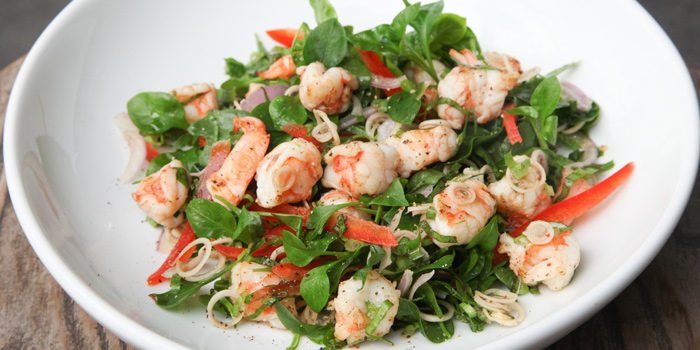 Grilled Prawn Lemongrass Dressing from Herringbone at 26/1 Sukhumvit 53 Alley Khlong Tan Nuea, Wattana Bangkok