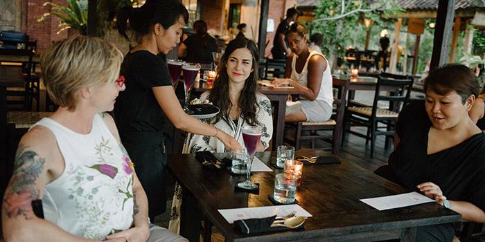 Interior from Moksa Restaurant, Ubud, Bali
