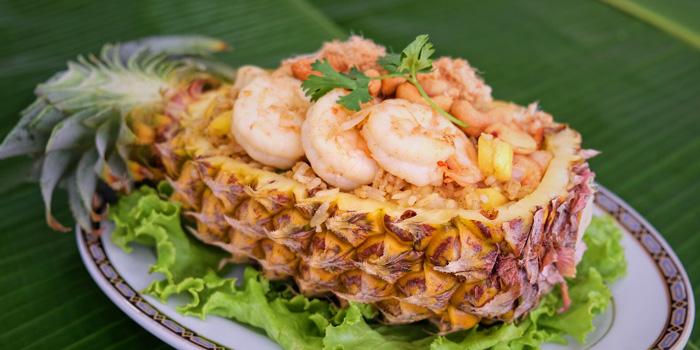 Pineapple Fried Rice from Methavalai Sorndaeng at 78/2 Ratchadumneon Klang Rd, Phra Nakhon Bangkok