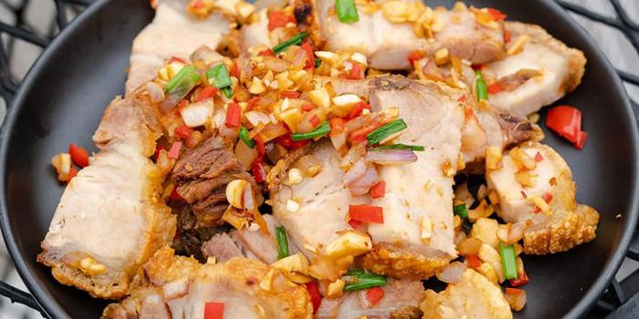 Spicy Crispy Pork Belly from Long Tian Bkk at 246 Thai Wang Alley Phra Borom Maha Ratchawang, Phra Nakhon,Bangkok