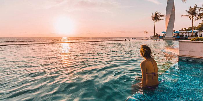 Sunset from Vuew Beach Club, Canggu, Bali