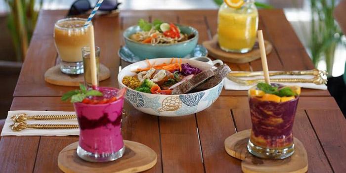 Food from Kin Cafe, Seminyak, Bali