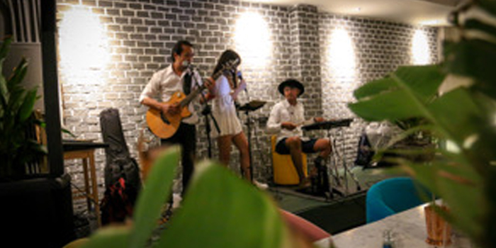 Atmosphere of Gardens Bar in Phuket Town, Phuket, Thailand