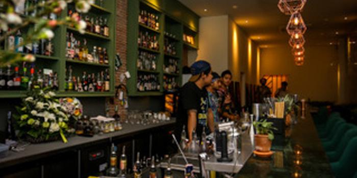 Bar of Gardens Bar in Phuket Town, Phuket, Thailand
