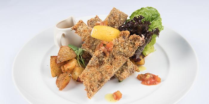 Beef Milanese, Garlic Potato, Roasted Vegetables Mushroom Gravy