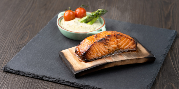 Cedar Plank Smoked Salmon Fillet, Flame at Towngas Avenue, Tsim Sha Tsui, Hong Kong