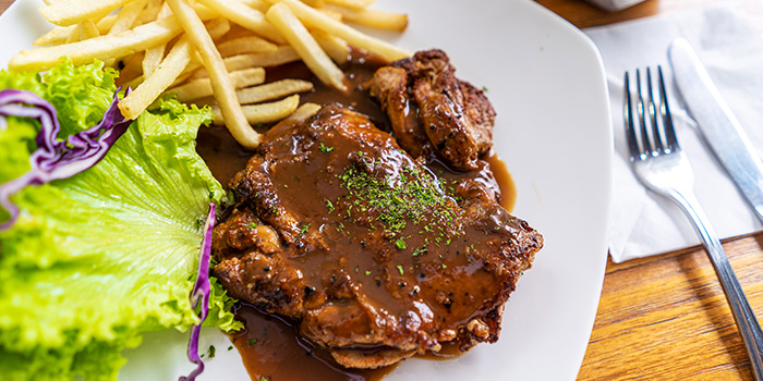 Chicken Chop from The Glass Onion at Bencoolen in Bugis, Singapore