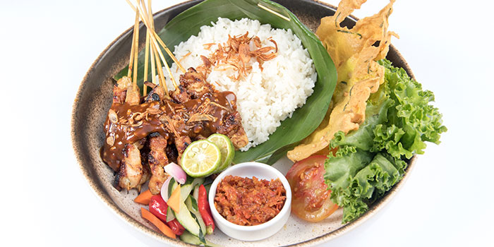 Chicken Satay with Coconut Skippy Peanut, Garlic Rice