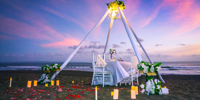 Romantic dinner from Vuew Beach Club, Canggu, Bali