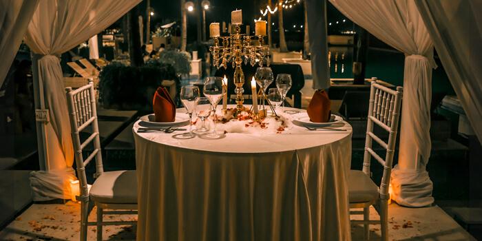 Romantic dinner from Vuew Beach Club, Canggu, Bali