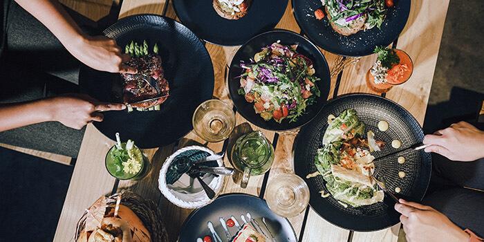 Food from Boheme Restaurant, Canggu, Bali