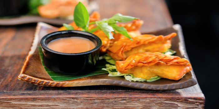 Dumpling from Ginger Moon in Seminyak, Bali