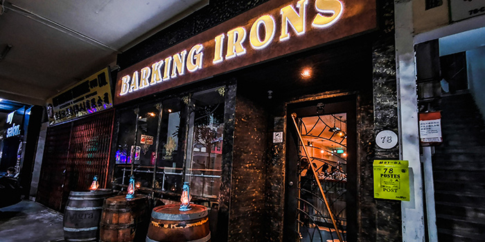 Entrance of Barking Irons in Lavender, Singapore