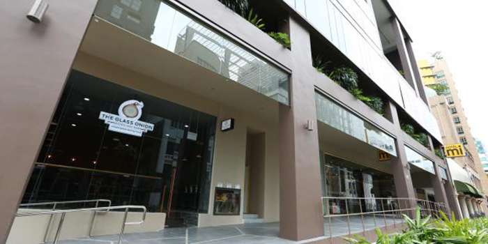 Exterior of The Glass Onion at Bencoolen in Bugis, Singapore