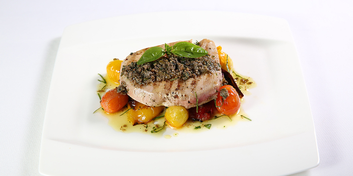 Fish Grilled Tuna Steak with Anchovy at The Village, Sanur