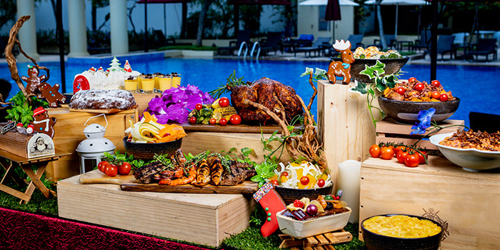 Festive BBQ (Christmas and NYE) from Cocobolo Poolside Bar + Grill at Park Hotel Clarke Quay in Robertson Quay, Singapore