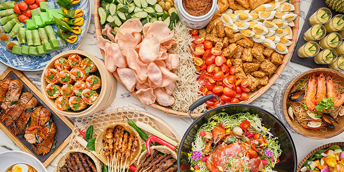 Food Spread from Food Exchange at Novotel Singapore on Stevens in Tanglin, Singapore
