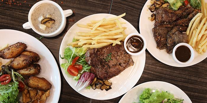 Food Spread from The Grumpy Bear Cafe at Kebun Baru Community Centre in Ang Mo Kio, Singapore